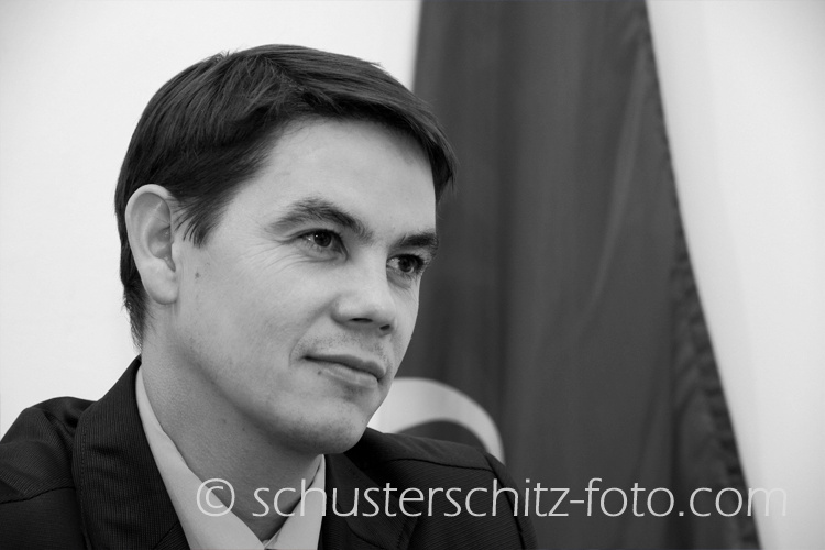 Dmitrjij Alexandrovitsch Ewert, stellvertretender Leiter der Abteilung für Öffentlichkeitsarbeit der Stadt Irkutsk, Russlanddeutscher.