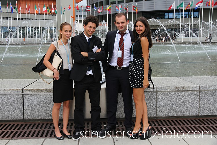 Delegierte der Vienna International Model United Nations (VIMUN)