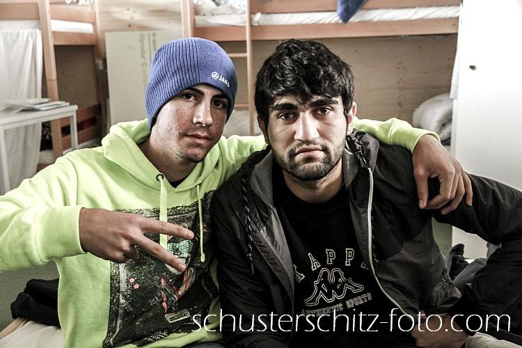 Zwei Freunde aus Syrien