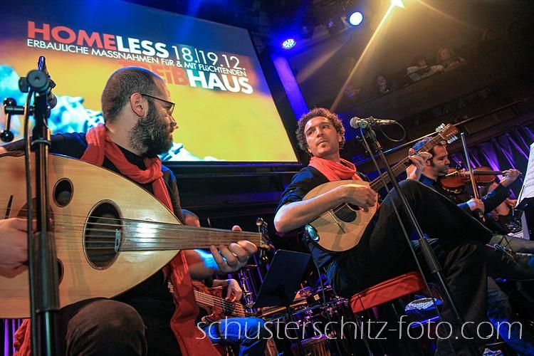 Die beiden syrischen Musiker Orwa Saleh und Salah Ammo